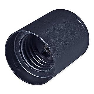 E27 Lampenfassung Kunststoff (PBT), Mantel glatt Schwarz