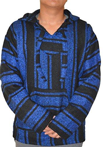 Galaxy Reborn mexikanischer Baja Kapuzenpullover blau schwarz Pullover Jerga mexikanischer Drug Rug Sweatshirt Sweatshirt Sweatshirt S M L XL 3XL - - XXX-Large -