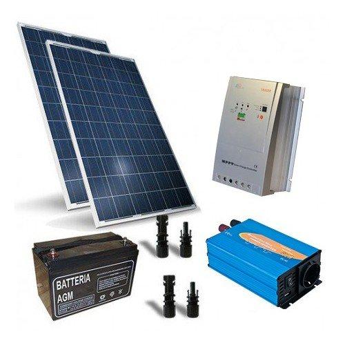 Photovoltaik Kits 520W 12V Base Hutte Solarmodul Laderegler Wechselrichter 2000W