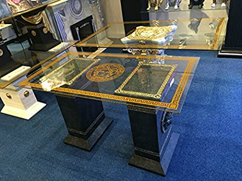 Medusa Tisch Designer Esstisch Glastisch Esstisch Mäander Barock Säulen Wohntisch 6035 K 128 Versa