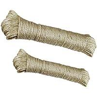 Lantelme 6626 Sisalseil 80 Meter - Natur Sisal Leine Seil Sisalseil auch für Kratzbaum - Katzenbaum geeignet