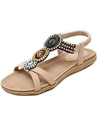 YMFIE Sandali open toe bohémien donna estate casual semplici e comode scarpe da spiaggia antiscivolo, 42 EU, E
