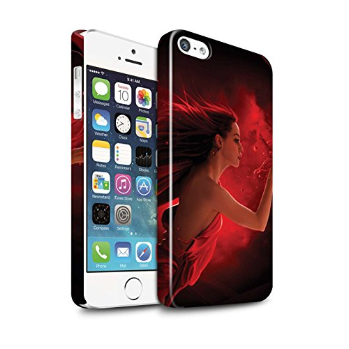 Officiel Elena Dudina Coque / Clipser Brillant Etui pour Apple iPhone SE / Couleurs d'Automne Design / Un avec la Nature Collection Éclaboussure Rouge