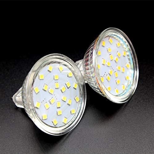 TIPOPP Lampadine a risparmio energetico LED light cup MR11 spina a due poli MR11 downlight bulb replacement lampada a risparmio energetico light cup MR11 220V 3W, 2-Pack, luce bianca