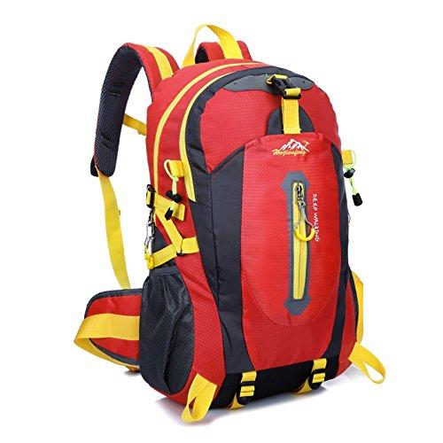 Sport outdoor alpinismo borsa casual nylon impermeabile borsa zaino da viaggio , rose red Red