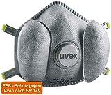 3X Uvex Silv-Air E 7330 - FFP3 Mascarilla de Respiración - Máscara de Respiración...