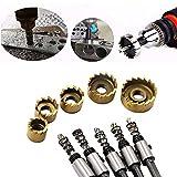 TianranRT 5PCS Loch Säge Zahn Kit HSS Stahl Bohrer Bit Cutter Werkzeug Set für Metall Holz Legierung