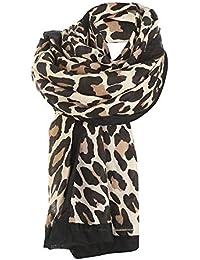 ZYUEER Echarpe Leopard Foulard Leopard ChâLe Hiver Femme Grande Foulard  Blanc Gris Kaki Marron Pas Cher a923019e7e6