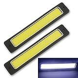 Safego 2PCS DRL COB LED Super Luminoso Luce di Marcia Diurna Bianco per Auto SUV/ATV Impermeabile 56Chips LED 8W 6000K