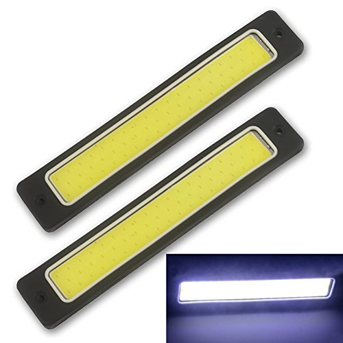 Safego 2PCS DRL COB LED Super Luminoso Luce di Marcia Diurna Bianco per Auto SUV/ATV Impermeabile 56Chips LED 8W 6000K