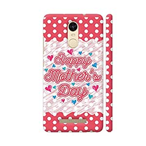 Colorpur Happy Mother's Day On Red Polka Dots Artwork On Xiaomi Redmi Note 3 Cover (Designer Mobile Back Case) | Artist: Designer Chennai