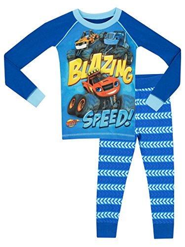Blaze and the monster machines - pigiama a maniche lunga per ragazzi di blaze e le mega macchine - vestibilita stretta - 18 - 24 mesi