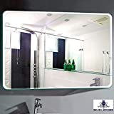 Seven Horses Large Corner Round Bevelled Wall Mirror (30 Inch X 24 Inch)