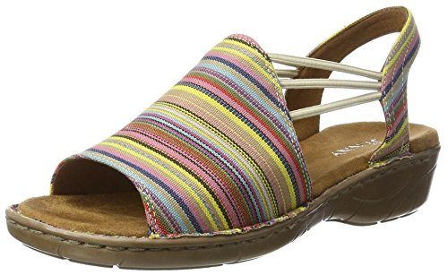 Jenny Korsika-iii, Sandales Compensées femme Rot (Rainbow)