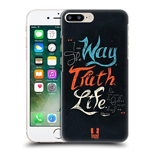 Head Case Designs Dieu Est Pour Nous Typographie Chrétienne Étui Coque D'Arrière Rigide Pour Apple iPhone 7 / iPhone 8 Chemin Vie Vérité