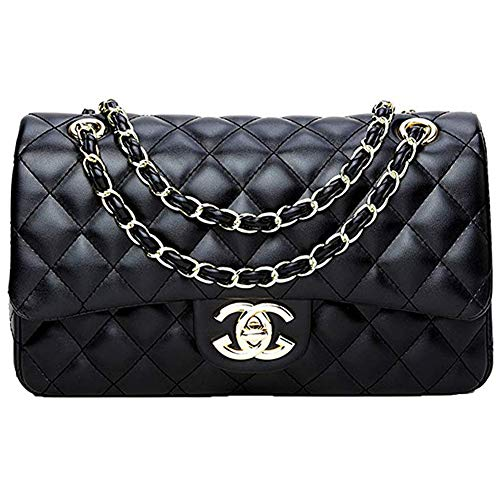 Damenhandtaschen Internationalen Berühmten Marke Damen Einkaufstasche Cc Handtaschen Messenger Bag Lingge Kette Paket Schulter Mode Mini Tasche - Schwarz 3