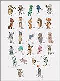 Poster 30 x 40 cm: ABC Tiere - Das Alphabet (Deutsch) von Paola Zakimi - Hochwertiger Kunstdruck, Neues Kunstposter