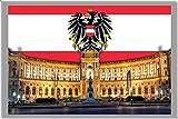 VIENNA FRIDGE MAGNET, THE CAPITAL CITY OF AUSTRIA CALAMITA DA FRIGO