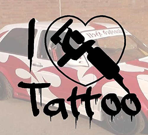 I Love Tattoo Bitch-Adesivo per auto a forma di Minion