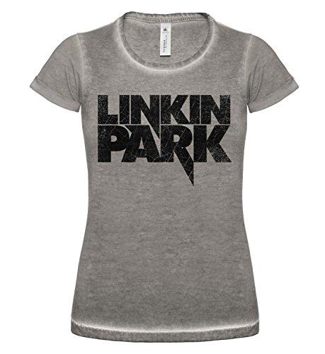 LaMAGLIERIA Camiseta Mujer Vintage Look Linkin Park Cod. Grpr0106...