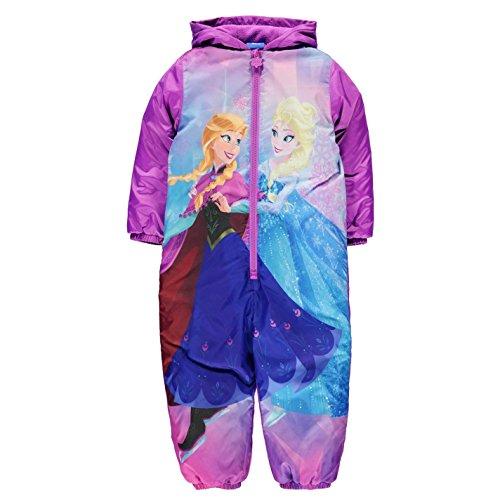 Character Ragazze Imbottita Bambine All In One Outdoor con Cappuccio Zip Top Disney Frozen 4-5 Yrs