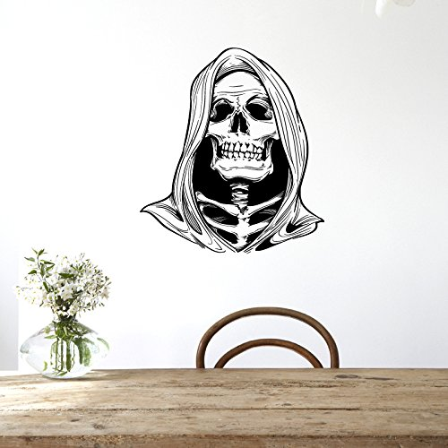 (INOVEY Hallowen Hexe Schädel Kopf Glasfenster Dekor Wand Sticker Party House Zuhause Dekoration)