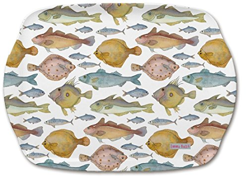 British Motif Poisson - Emma Ball coloré Plateau Mélamine - 35 cm