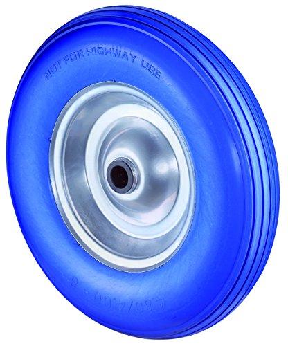 Preisvergleich Produktbild BS Rollen pannensicheres Schubkarrenrad, Rillenprofil, Stahl Radkörper, Rollenlager, 400 mm, C91.400