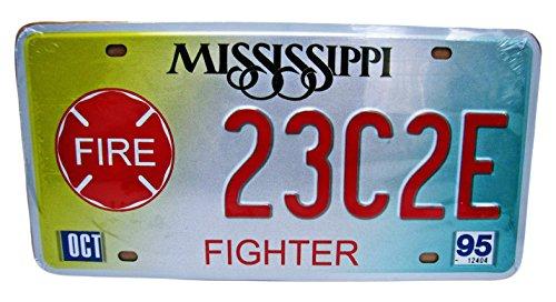 Dioramax - 63H/10 - Plaque Voiture - Mississippi - Fighter - Blanc/Rouge/Jaune - Échelle - 1/1