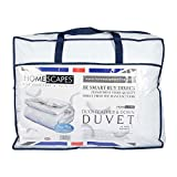 Double: Homescapes - Luxury Duck Feather and Down Duvet - 15 TOG - DOUBLE - 100% Cotton Anti Dust Mite & Down Proof Fabric - Anti allergen - Box Baffle Construction - Washable at Home Range
