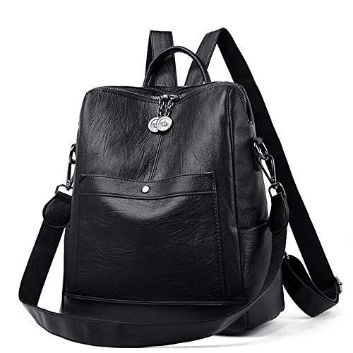 Texan Satan Hochwertige Leder Damenrucksack Backbag Weibliche Schultasche mit großer Kapazität Mochila Feminina Casual Daypacks (Victoria Secret Kleidung Kleine)