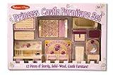 Enlarge toy image: Melissa & Doug Princess Castle Wooden Dolls House Furniture (12 pcs) -  preschool activity for young kids