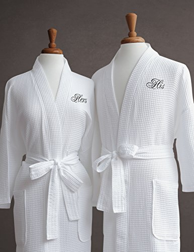 luxor-linens-egyptian-cotton-his-hers-waffle-weave-robe-perfect-wedding-gift-his-hers-by-luxor-linen