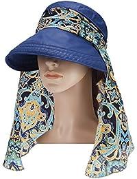 Vbiger Visor Hats Wide Brim Cap UV Protection Summer Sun Hats For Women  (Navy Blue 386a8b4c2c8