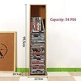 GWXJZ Estanterías para CD DVD Rack de Almacenamiento de CD Juego de Disco de PS4 Rack de Acabado Disco de BLU-Ray de Madera Maciza Estante de Disco de Juego de Disco (Tamaño : 99.5 * 24.5 * 22.5cm)