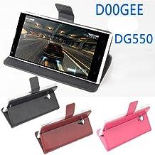 """Prevoa ® 丨Flip funda de cuero del caso del tirón para Doogee DG550 5.5"""" Smartphone - Negro Color"""