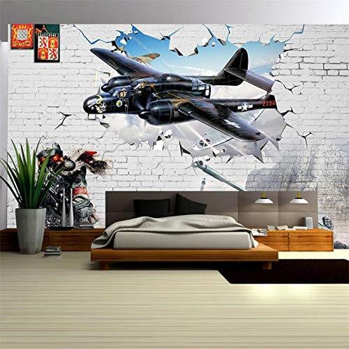 """BZDHWWH Das Wandbild An Der Wand Tapete Kämpfer Retro Fototapete 3 D Wohnzimmer Schlafzimmer Dekoration Tapete,10'10"""" X 6'11""""(Ft)"""