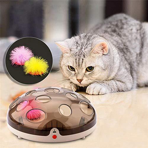 kioski Wiederaufladbare Maglev springenden Federn Fangspiel Katze interaktive lustige elektrische Feder Teaser Übung Chaser Training Spielzeug -