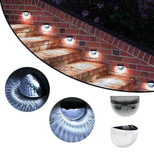 XiuZP Angetriebenes Zaun-Licht-LED, Yard-Treppen-Schritt-Plattform beleuchtet Außenwand-Garten (Color : Black) - Black Leder-plattform