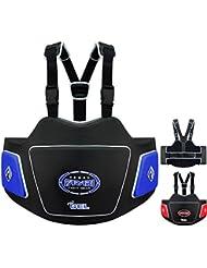 Farabi Body Shield Belly Protector Abdomen Protector Ribs Protector Abdominal Guard Belly Protectio (Blue Black)