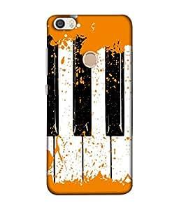 FUSON Designer Back Case Cover for Xiaomi Redmi Max (Black And White Colour Splash Droplets Music )