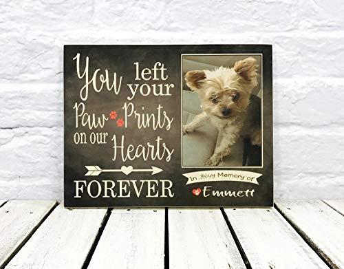 CELYCASY Personalisiertes Hunde-Gedenkschild aus Holz für Gedenktafel für Hundeliebhaber