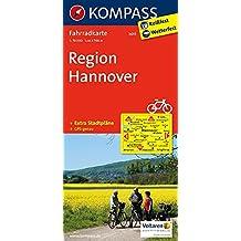 Region Hannover: Fahrradkarte. GPS-genau. 1:70000 (KOMPASS-Fahrradkarten Deutschland, Band 3015)