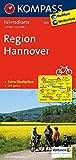 Region Hannover: Fahrradkarte. GPS-genau. 1:70000: Fietskaart 1:70 000 (KOMPASS-Fahrradkarten Deutschland, Band 3015)