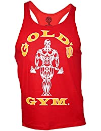 Golds Gym Classic Golds Gym Stringer Tank Top 100% Baumwolle (Red, L)
