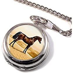 Arab Horse by William Burraud Full Hunter Pocket Watch