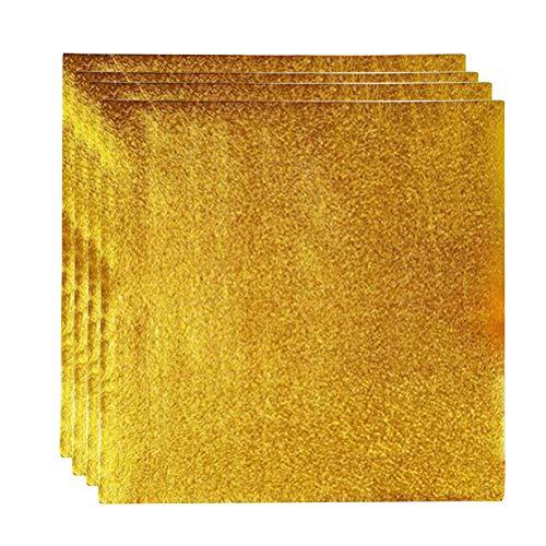 BESTonZON 200 stücke Aluminiumfolie Papier Goldfolie Papier Geschenkpapier Orange Peel für Verpackung Schokolade (Golden) (Schokolade Orange Peel)