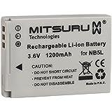 Mitsuru® 1200mAh batterie de rechange pour CANON DIGITAL IXUS 90is 100 IS 800IS 850 IS 860is 870 IS 900 TI 960 IS 970 IS 980 IS 990 IS , CANON POWERSHOT SD700 SD800 SD900 SD900Ti SX120 IS SX200 IS SX210 IS SX220 HS SX230 HS