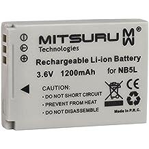Mitsuru® 1200mAh batería para Canon NB-5L NB5-L NB5L recambio para Canon PowerShot SD900Ti SX120IS SX200IS SX210IS SX220HS SX230HS