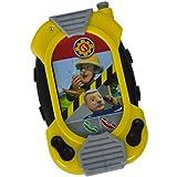 Feuerwehrmann Sam Messenger mit Gürtelclip, Licht und Sound, 12x7 cm - Spielzeug Handy Funkgerät Sprechgerät Smartphone Walkie Talkie